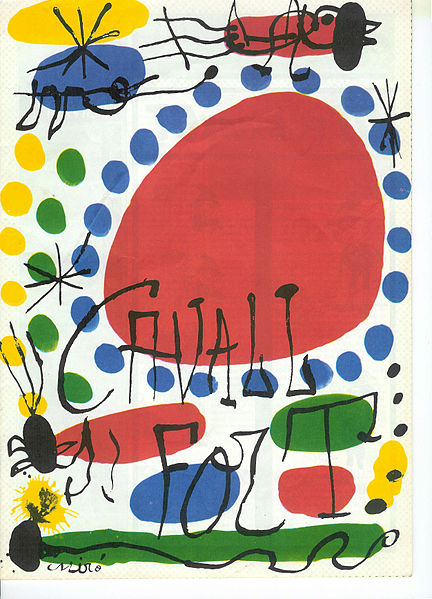 An illustration by Joan Miro for Cavall Fort