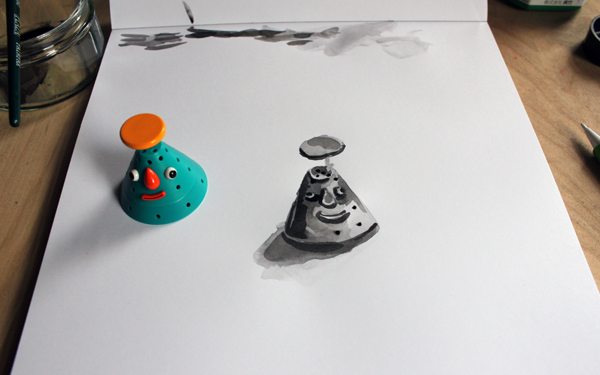 Third layer in an ink wash