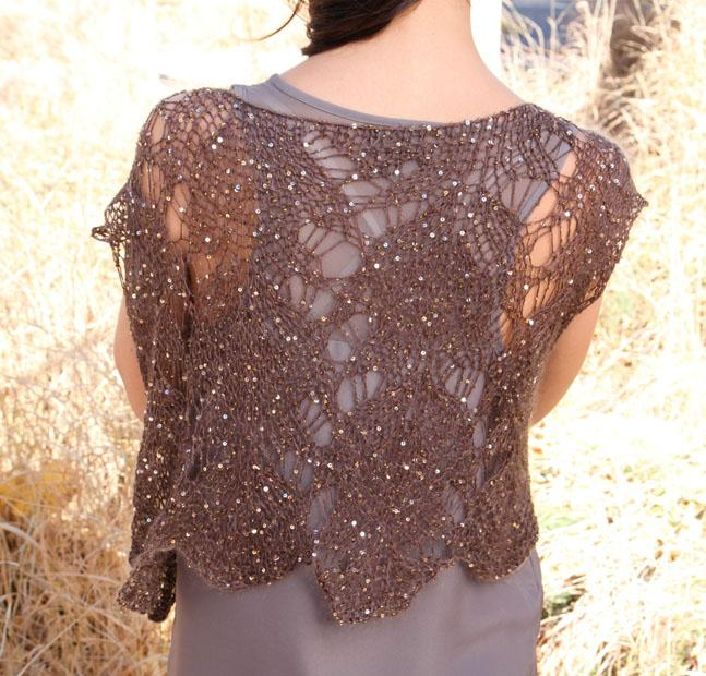 Sequined Mohair Lace Vest Kit from Bluprint!