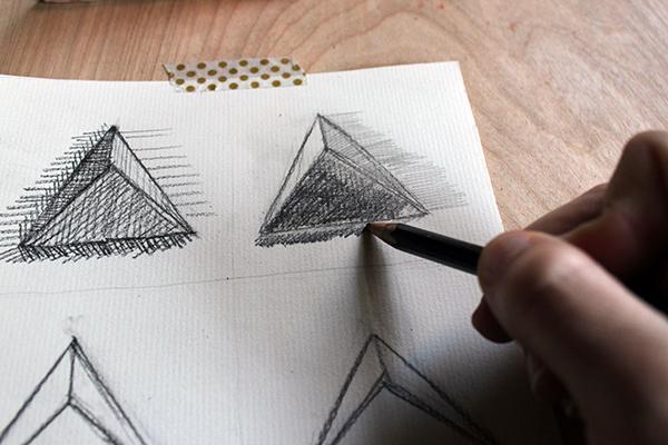 Short lines drawing in progress