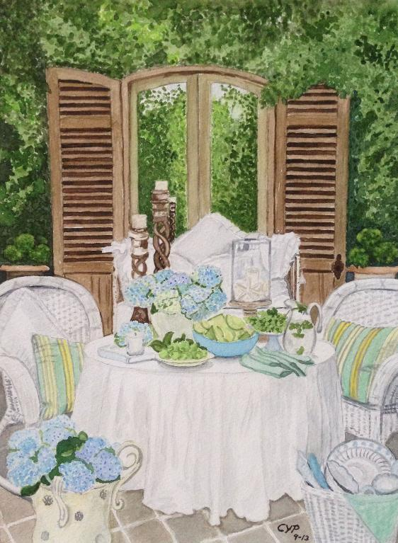 Backyard Still Life Painting