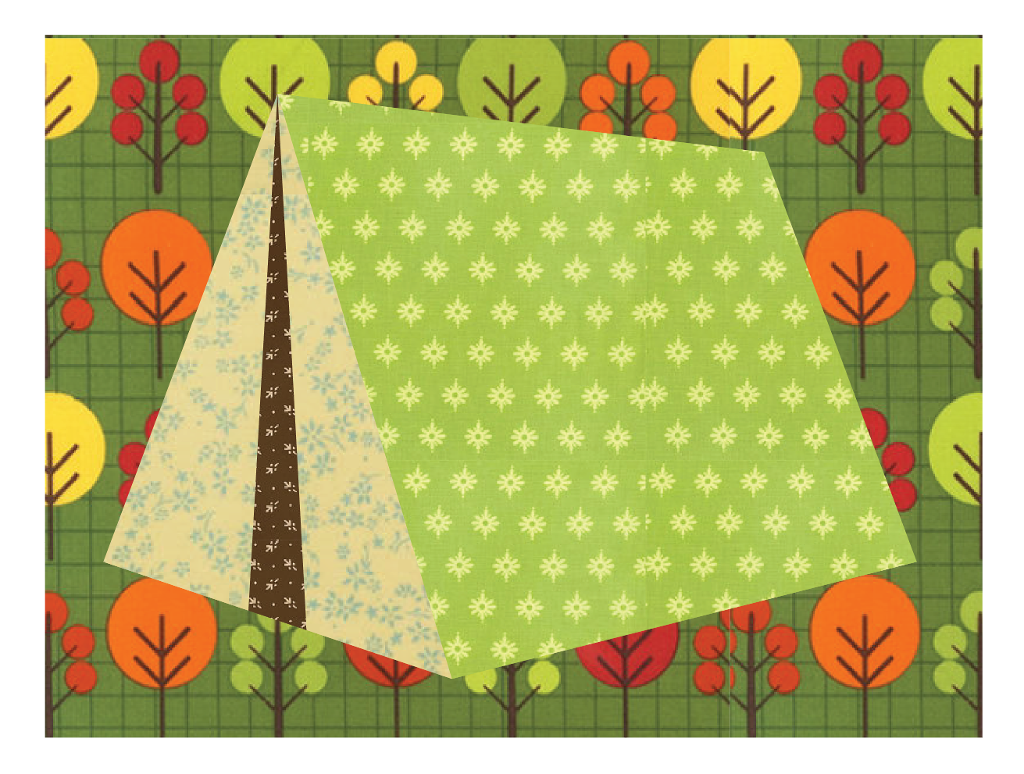 Camping Tent Paper-Pieced Quilt Pattern