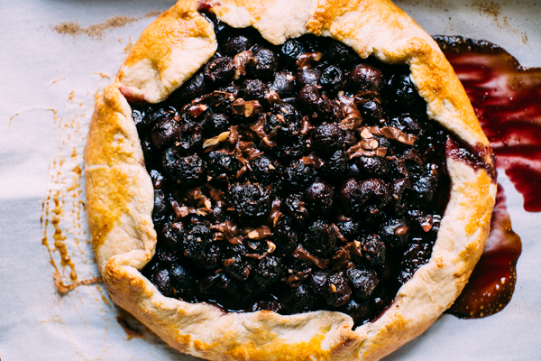 Freshly baked chocolate + cherry galette