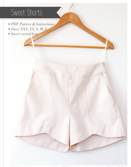 Sweet scalloped hem shorts pattern by pattern runway - Bluprint.com
