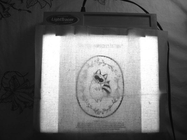 Light box for embroidery pattern transfer