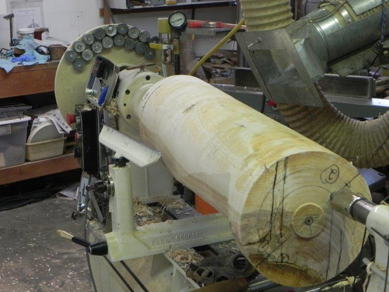 Wood on a Woodturning Machine