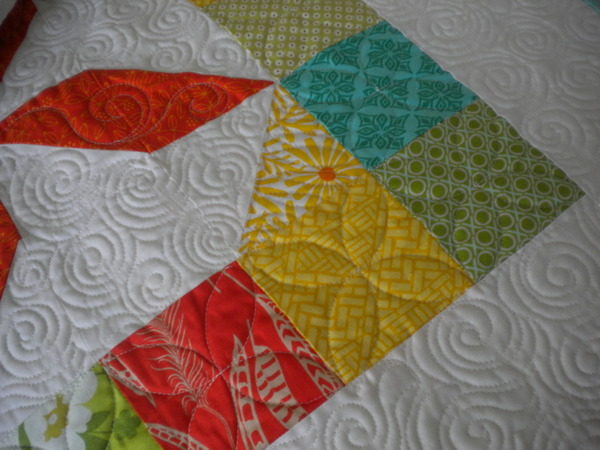 Multi-colored squares to make a quilt border