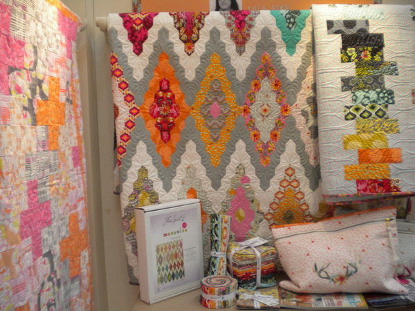 """""""Moonshine"""" collection by Tula Pink on display in the Free Spirit booth"""
