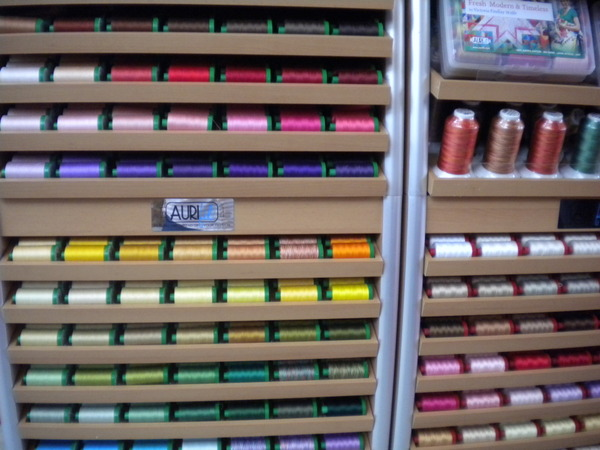 A rainbow of threads by Aurifil