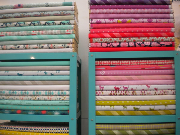 "Fabrics from the ""Cotton and Steel"" collection, a division of RJR Fabrics"
