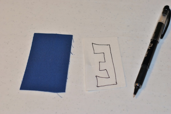 Drawing your fusible design to fit scrap fabric