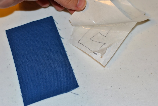 Removing your fusible backing