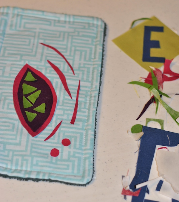 Cutting more fabric shapes for applique