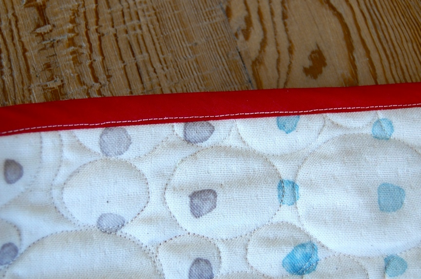 Front View of Finished Quilt Binding