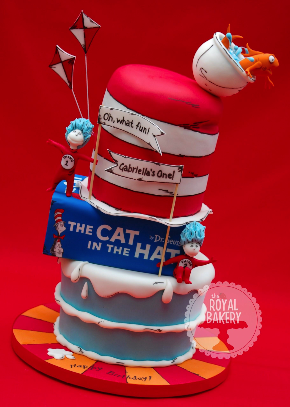 Dr. Suess Cake With a Starburst Cake Board Design
