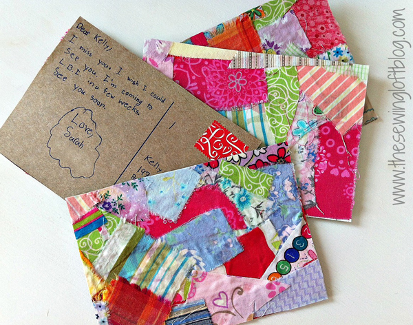 DIY Fabric Postcard