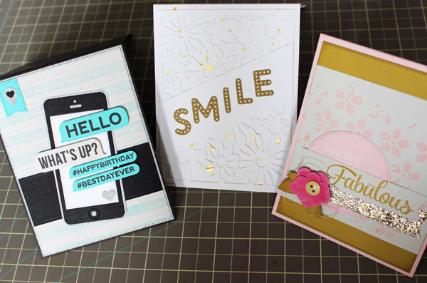 Cards using Glitter Card Stock