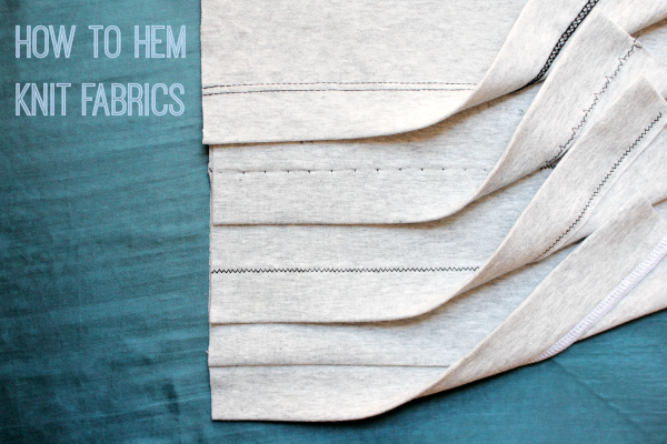 Heather Gray Knit Fabric Hemmed Four Ways