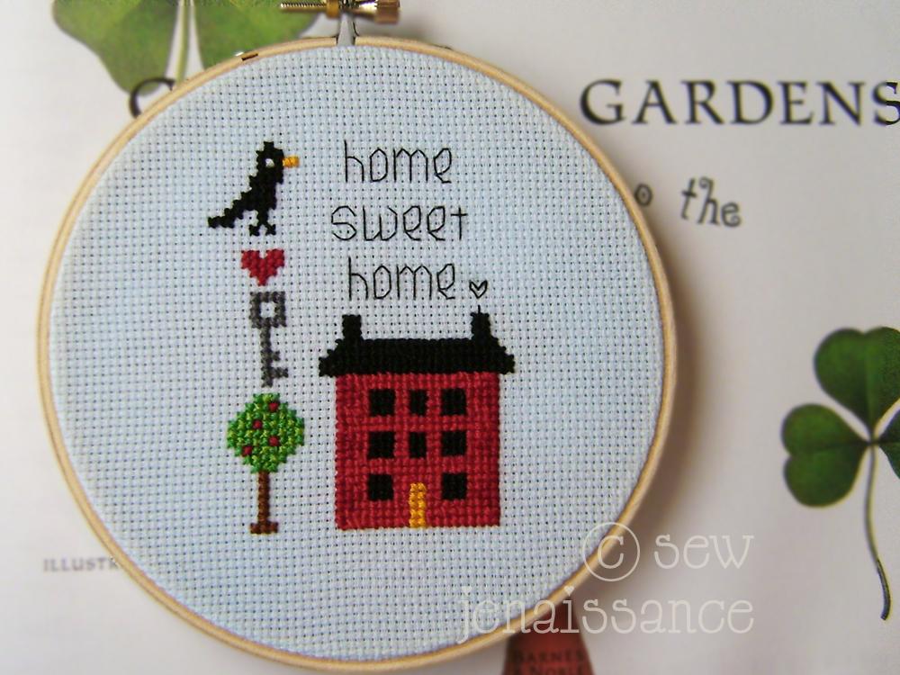 Home Sweet Home Mini Cross-Stitch Pattern
