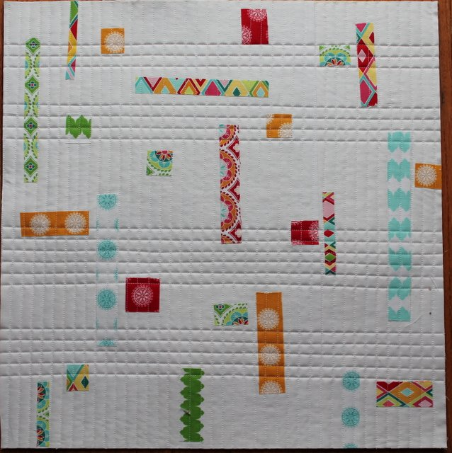 Linear free-motion quilting