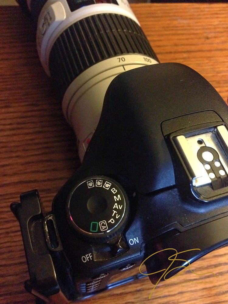 The mode dial on my Canon 7D