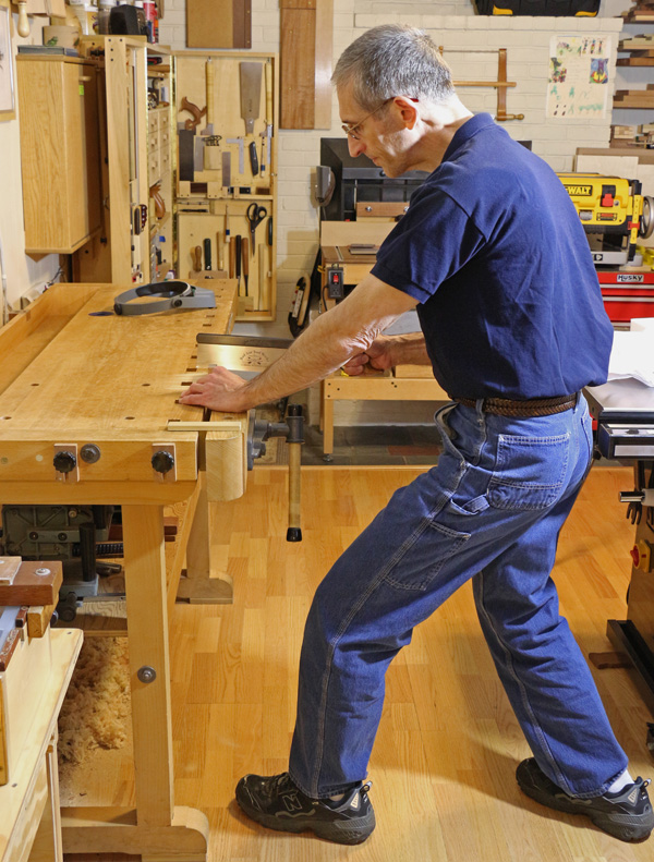 Stance for Sawing Wood