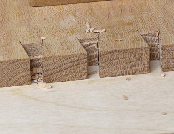 Chopping Dovetail Joint