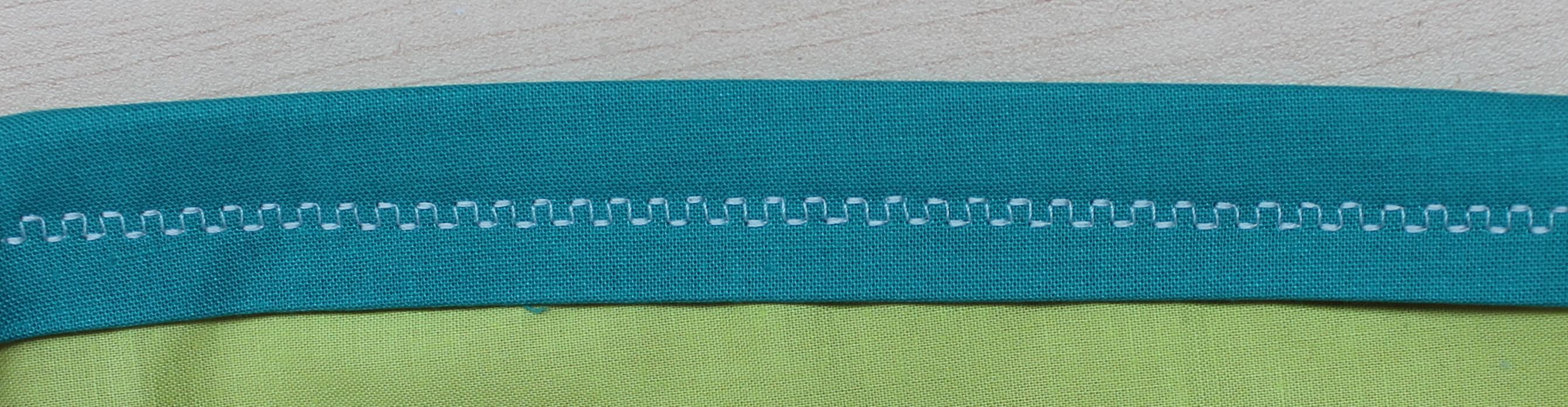 Decorative stitch on binding