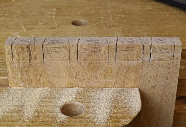 vertical saw cuts