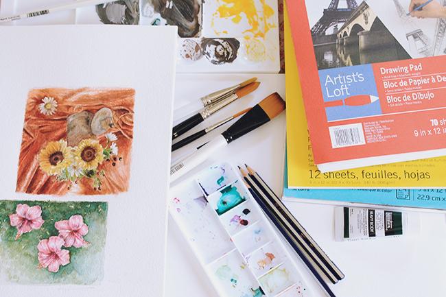 Artist's basic supplies