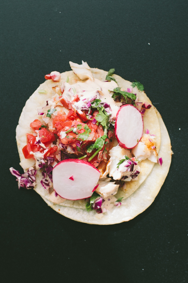 Mexican street-style taco