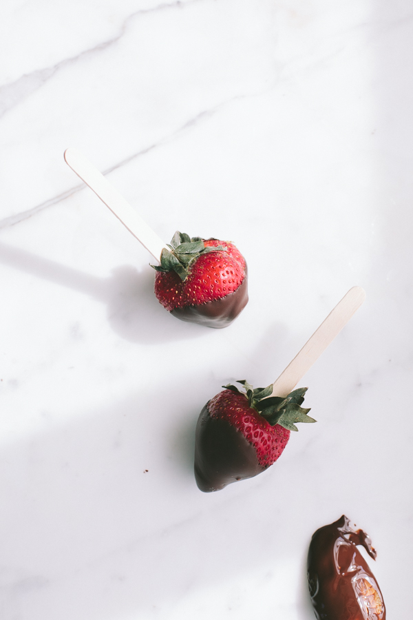 Frozen Chocolate Dipped Strawberries