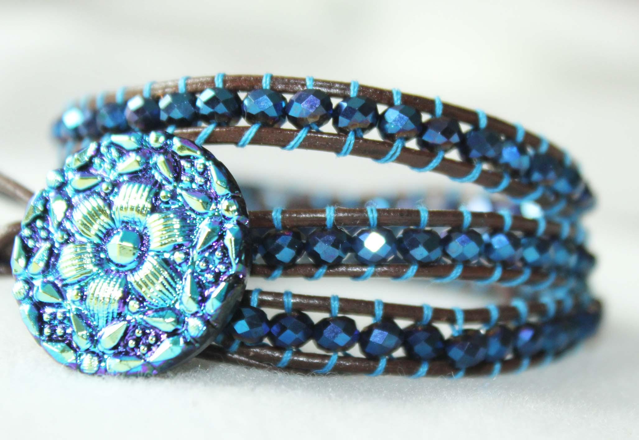 Finished Bead Wrap Bracelet