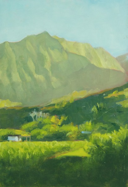 Kauai; oil 10x8'; four color painting