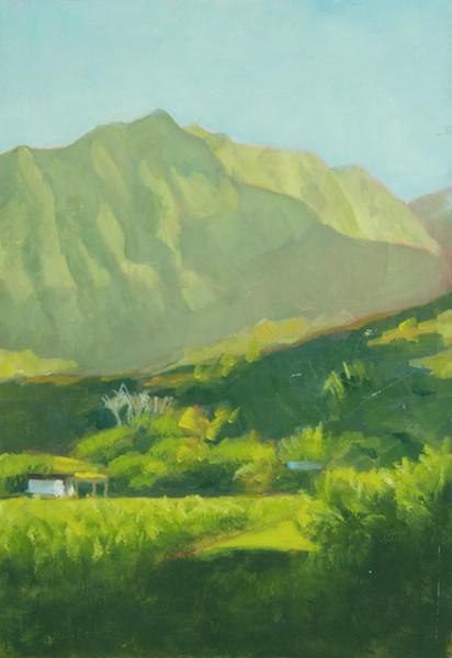 Kauai; oil 10x8'; four color painting