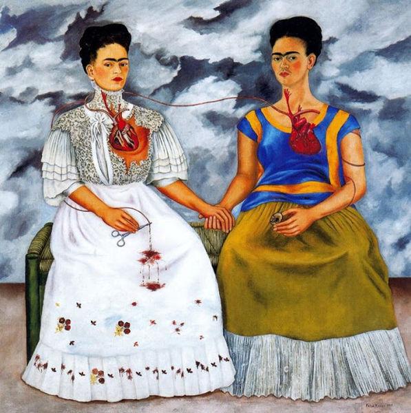 Las dos Fridas by Frida Khalo