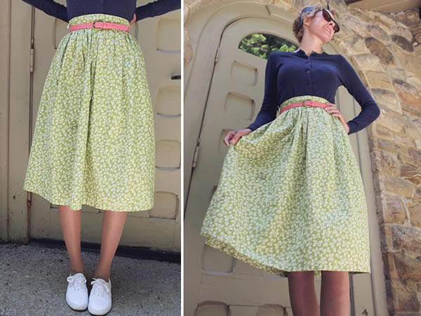 Pretty Green Floral Skirt