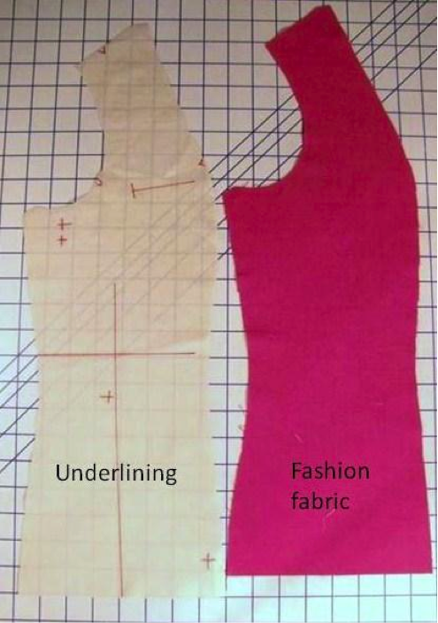 Matching Underlining With Pattern Fabric