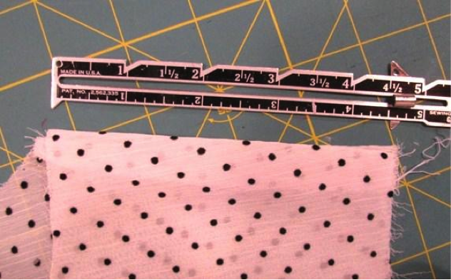 Measuring for the ruffle