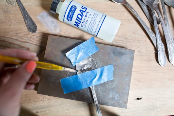Making Silverware Garden Markers