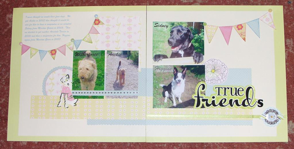 Pet Page Scrapbook Inspiration