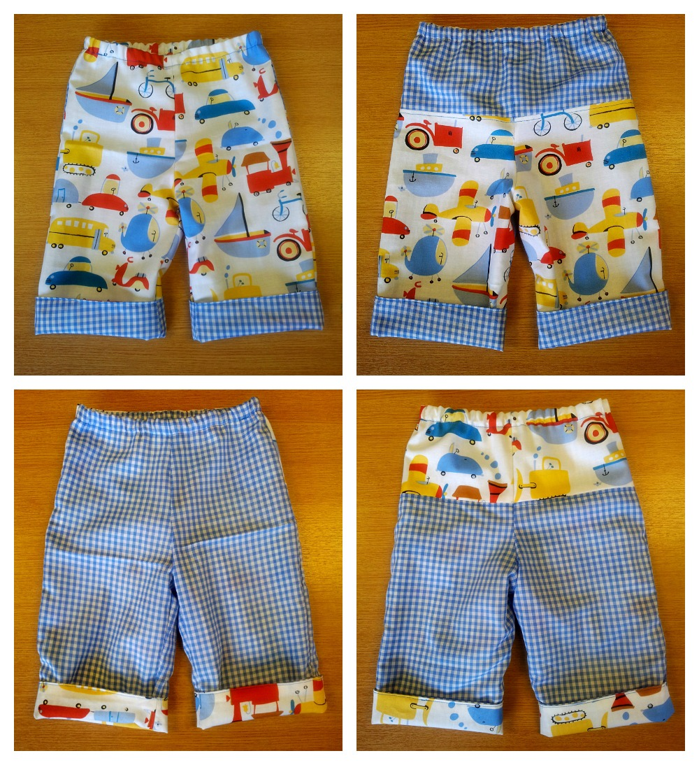 Tiny Reversible Baby Trouser Pattern