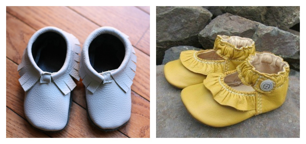 Baby Moccasins and Mary Jane-style shoes