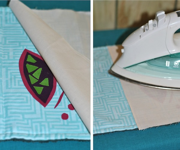 Ironing your fusible quilt pieces