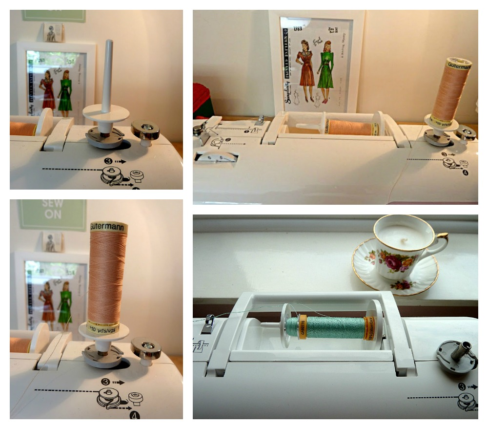 Sewing Machine Set-up Using a Double Needle