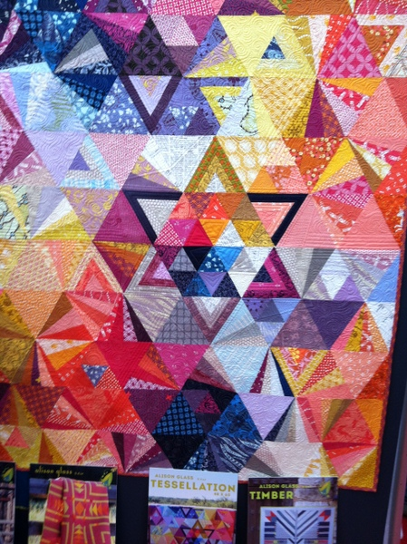 Booth of designer Alison Glass at the spring International Quilt Market