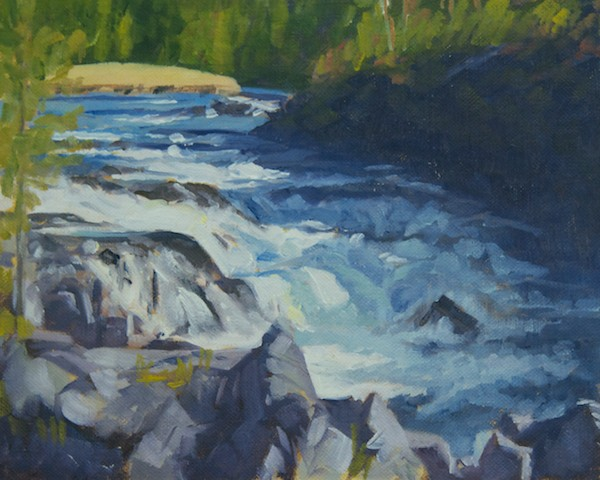 """Gibbon River"" oil 8x10""; four color painting"