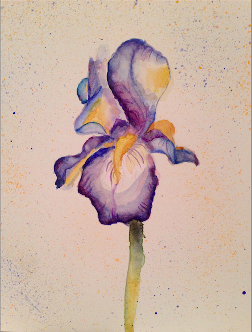 Iris Still Life Painting