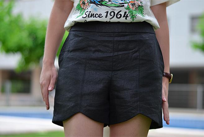 Adorable Black Summer Shorts