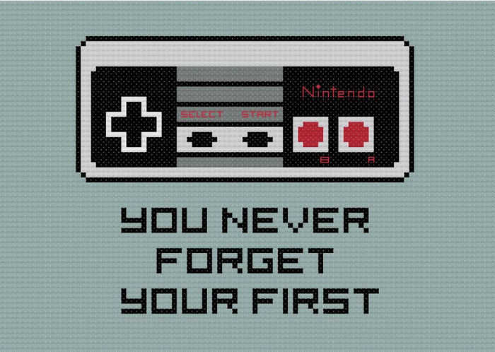 nintendo controller cross stitch pattern